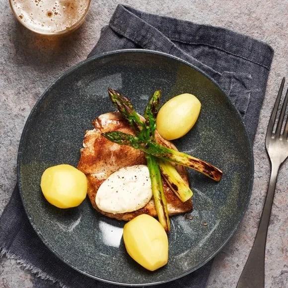 kyckling och sparris
