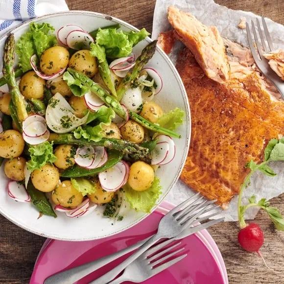 potatissallad till rökt fisk