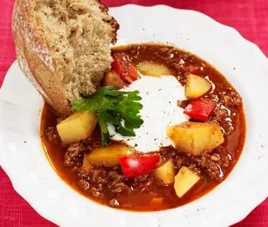 recept köttfärssoppa med potatis