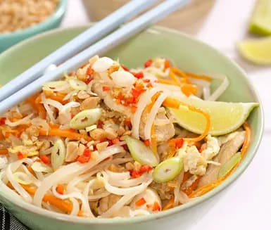 thai kyckling wok