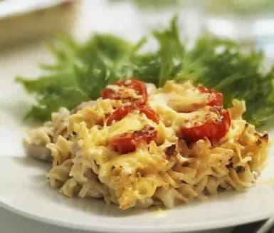 kyckling pasta i ugn