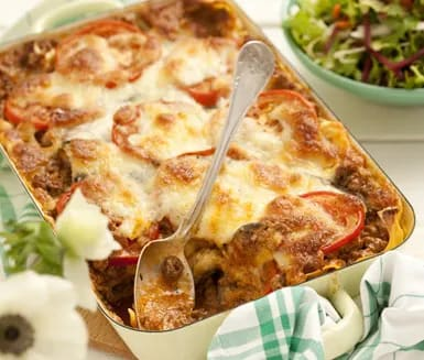 vegetarisk lasagne aubergine utan lasagneplattor