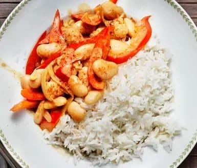 vegetarisk mat ris