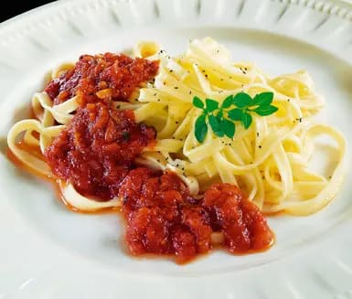 pasta krossade tomater