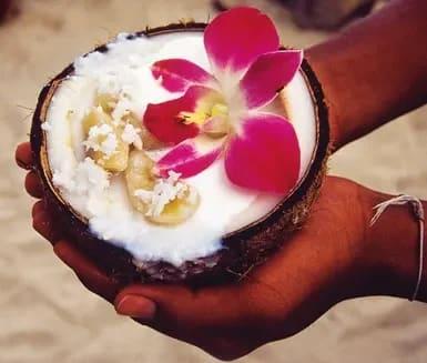 efterrätt med kokosmjölk