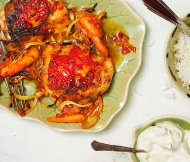 kyckling med ajvar relish