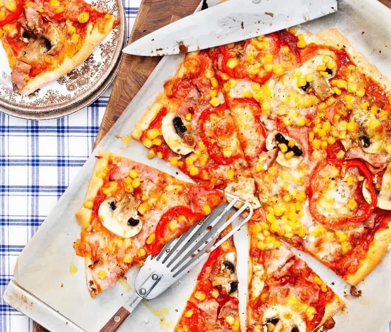 enkel pizza deg