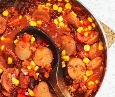 korvgryta chorizo recept