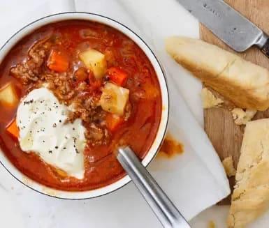 Gulasch soppa recept