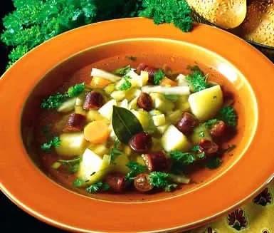 soppa potatis morot korv