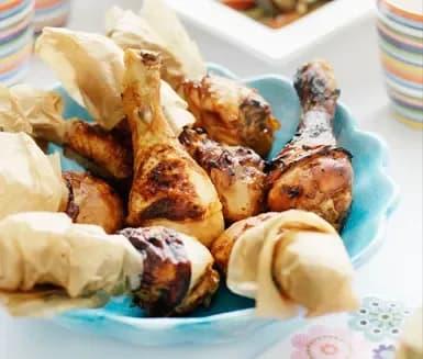 kycklingklubbor i ugn grader