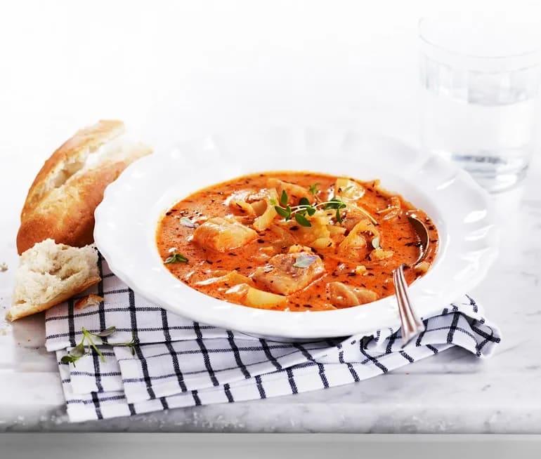 fransk fisksoppa saffran fänkål
