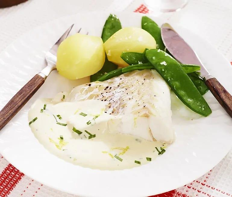 torsk med citronsås