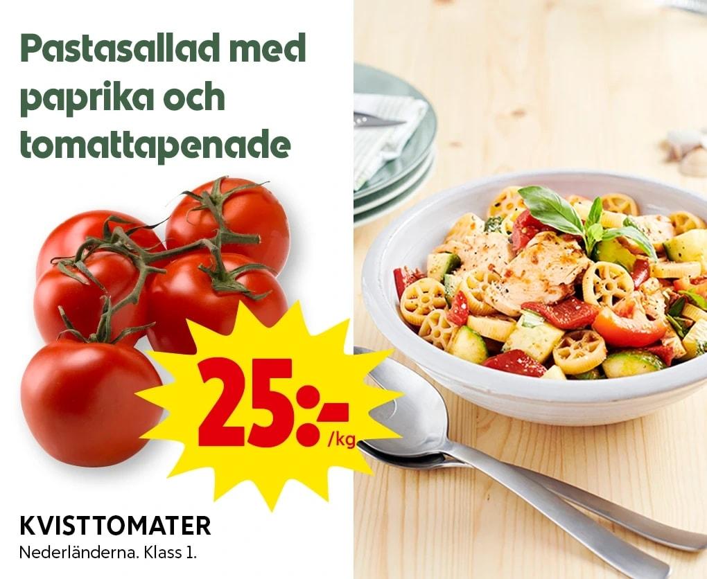 Pastasallad med paprika och tomattapenade