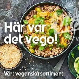 Vårt veganska sortiment