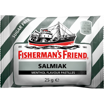 Halstabletter Salmiak Sockerfri 25g Fisherman's Friend