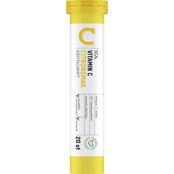 Vitamin C Citron Brustablett 20p ICA Hjärtat