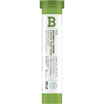 Multibrus B + Guarana Kosttillskott Brustablett 20p ICA Hjärtat