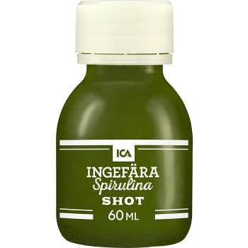 Ingefärsshot Spirulina 60ml ICA