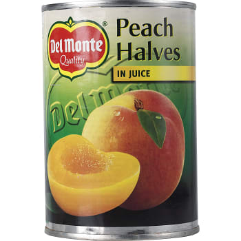 Persikohalvor i juice 415g Del Monte