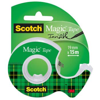 Tejp med hållare Osynlig Scotch Magic