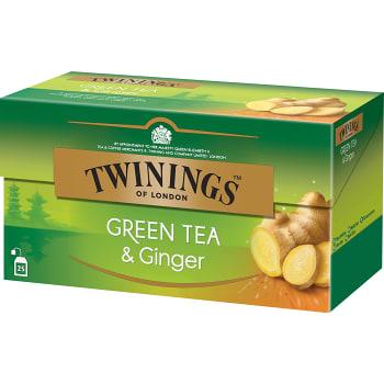 Grönt te & Ingefära 25-p Twinings