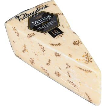 Morfars brännvinsost Svart extra stark 31% ca 500g Falbygdens ost