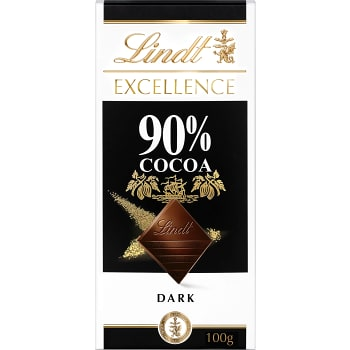 Chokladkaka Excellence 90% kakao 100g Lindt