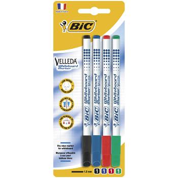 Whiteboardpenna Velleda 4-p Bic