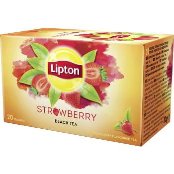 Te Svart Strawberry 20-p Lipton