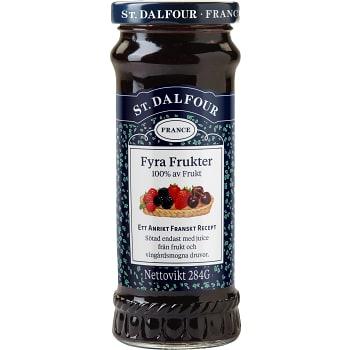 Fyra frukter utan tillsatt socker 284g St.Dalfour