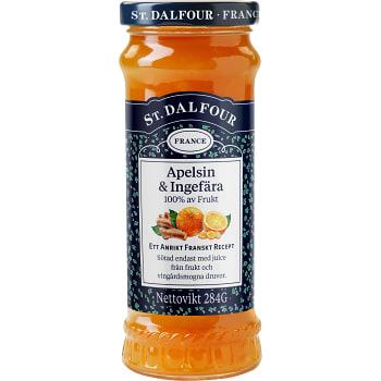 Ingefära & apelsin utan tillsatt socker 284g St.Dalfour