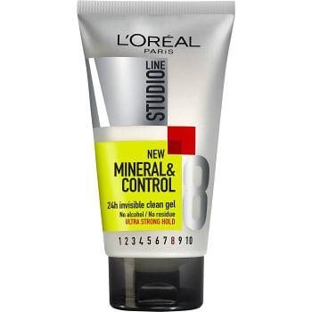 Hårstyling Gel Mineral & control 24h 150ml Studio Line