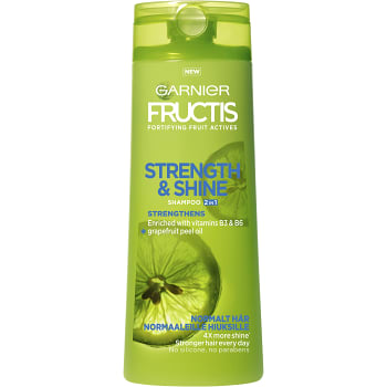 Schampo Strength & shine 2in1 Normalt hår 250ml Fructis