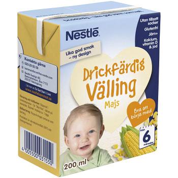 Majsvälling Drickfärdig Från 6m 200ml Nestle