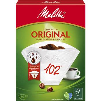 Kaffefilter Original Vit 102 80-p Miljömärkt Melitta