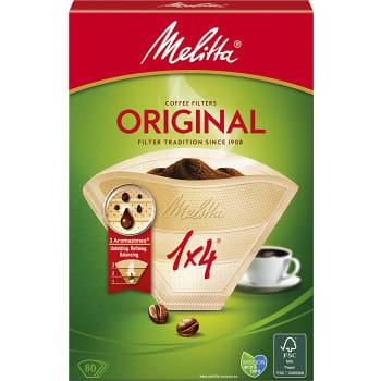 Kaffefilter Orginal 1x4  80-p Miljömärkt Melitta
