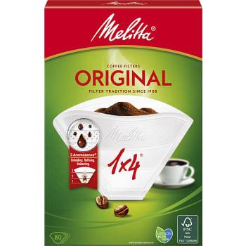 Kaffefilter Orginal Vit 1x4 80-p Miljömärkt Melitta