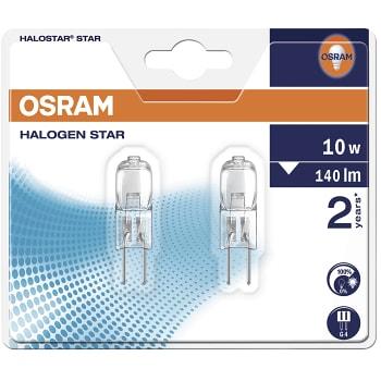 Halostar lampa g4 10w 12v 2-pack Osram