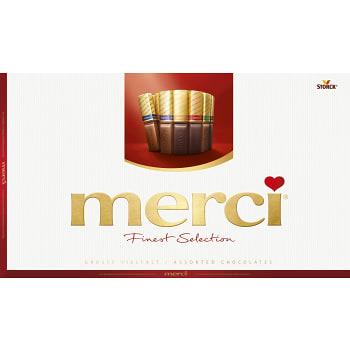 Chokladask Finest selection Röd 400g Merci