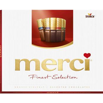 Chokladask Finest selection Röd 250g Merci