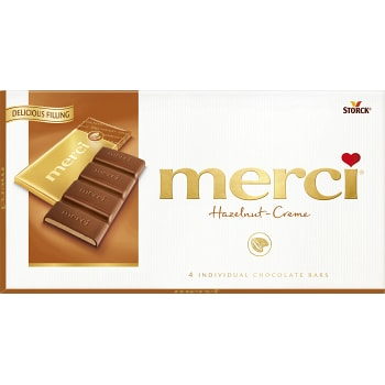 Chokladkaka Nougat Hasselnötkräm 12g Merci
