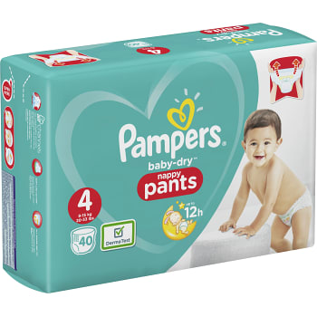 Byxblöjor 9-15kg 40-p Pampers