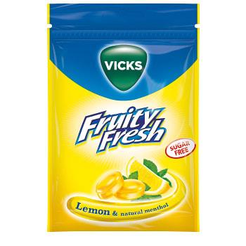 Halstablett Sockerfri Citron 72g Vicks