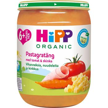 Nudlar grönsaker & skinka Från 6m Ekologisk 190g Hipp