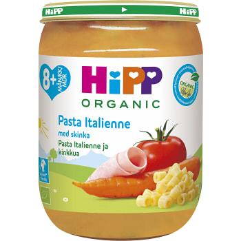 Pasta italienne med skinka Från 8m Ekologisk 190g Hipp