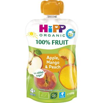 Smoothie Hippis Äpple mango & persika 4mån Ekologisk 100g Hipp