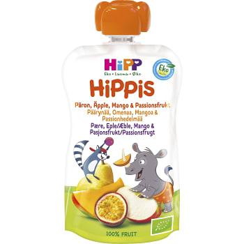Smoothie Hippis Päron äpple & mango 6mån Ekologisk 100g Hipp