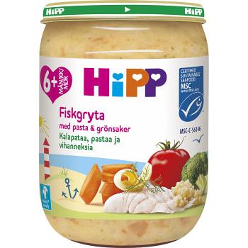Barnmat Mumsig Fiskgryta med pasta & grönsaker 6mån 190g Hipp