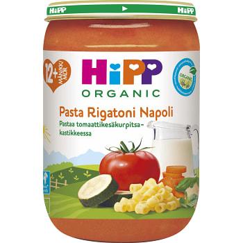 Pasta rigatoni napoli Från 12m Ekologisk 220g Hipp